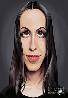Digital Art - Celebrity Sunday - Alanis Morissette by Rob Snow