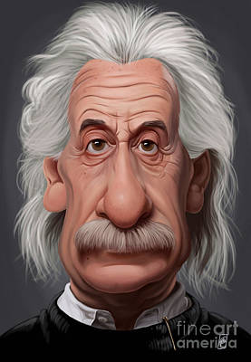 Einstein Drawing - Celebrity Sunday - Albert Einstein by Rob Snow