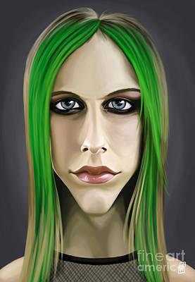 Digital Art - Celebrity Sunday - Avril Lavigne by Rob Snow