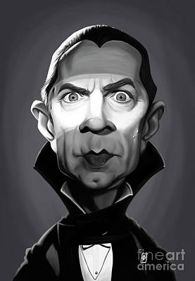 Digital Art - Celebrity Sunday - Bela Lugosi by Rob Snow