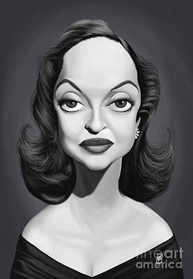 Digital Art - Celebrity Sunday - Bette Davis by Rob Snow