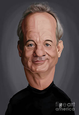 Digital Art - Celebrity Sunday - Bill Murray by Rob Snow