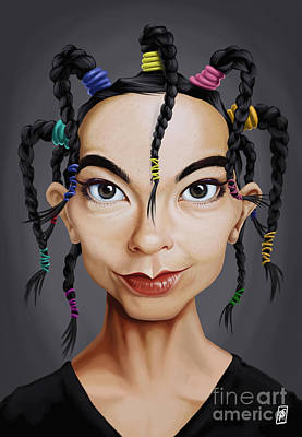 Digital Art - Celebrity Sunday - Bjork by Rob Snow