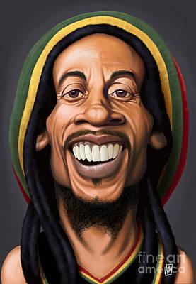 Digital Art - Celebrity Sunday - Bob Marley by Rob Snow