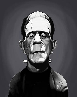 Digital Art - Celebrity Sunday - Boris Karloff by Rob Snow