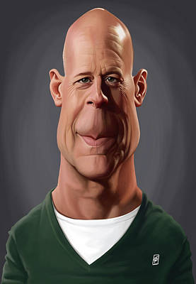Digital Art - Celebrity Sunday - Bruce Willis by Rob Snow