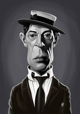 Digital Art - Celebrity Sunday - Buster Keaton by Rob Snow