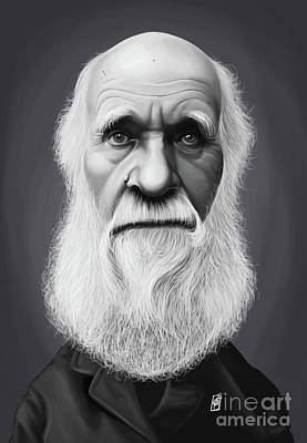 Digital Art - Celebrity Sunday - Charles Darwin by Rob Snow