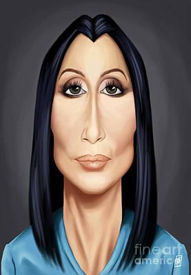 Digital Art - Celebrity Sunday - Cher by Rob Snow