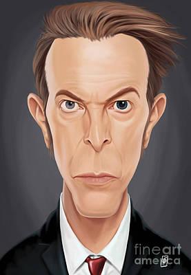 Digital Art - Celebrity Sunday - David Bowie by Rob Snow
