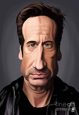 X-files Digital Art - Celebrity Sunday - David Duchovny by Rob Snow
