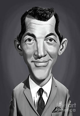 Art Print featuring the digital art Celebrity Sunday - Dean Martin by Rob Snow