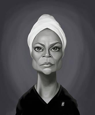 Digital Art - Celebrity Sunday - Eartha Kitt by Rob Snow