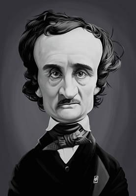 Digital Art - Celebrity Sunday - Edgar Allen Poe by Rob Snow