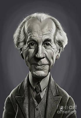 Digital Art - Celebrity Sunday - Frank Lloyd Wright by Rob Snow