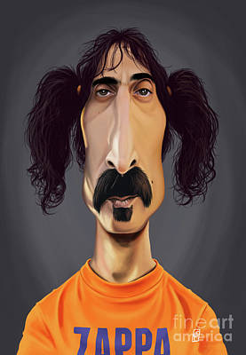 Digital Art - Celebrity Sunday - Frank Zappa by Rob Snow