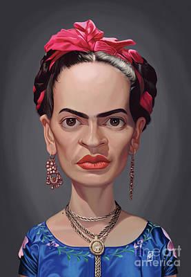 Digital Art - Celebrity Sunday - Frida Kahlo by Rob Snow