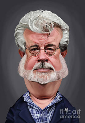 Digital Art - Celebrity Sunday - George Lucas by Rob Snow