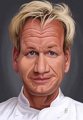 Digital Art - Celebrity Sunday - Gordon Ramsey by Rob Snow