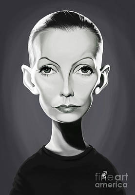 Digital Art - Celebrity Sunday - Greta Garbo by Rob Snow