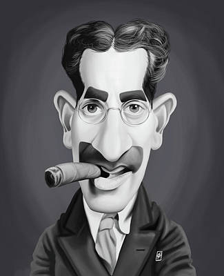 Digital Art - Celebrity Sunday - Groucho Marx by Rob Snow