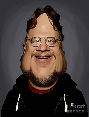 Digital Art - Celebrity Sunday - Guillermo Del Toro by Rob Snow
