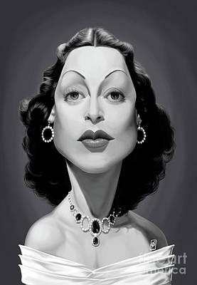 Digital Art - Celebrity Sunday - Hedy Lamarr by Rob Snow