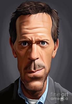 Digital Art - Celebrity Sunday - Hugh Laurie by Rob Snow