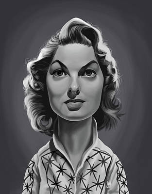 Digital Art - Celebrity Sunday - Ingrid Bergman by Rob Snow
