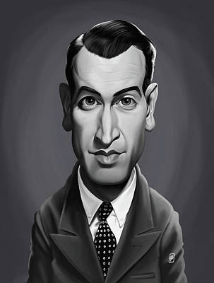 Digital Art - Celebrity Sunday - James Stewart by Rob Snow