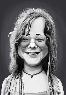 Digital Art - Celebrity Sunday - Janis Joplin by Rob Snow