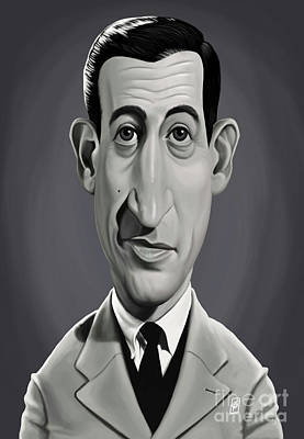 Digital Art - Celebrity Sunday - J.d.salinger by Rob Snow