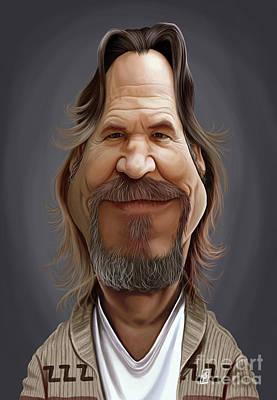 Digital Art - Celebrity Sunday - Jeff Bridges by Rob Snow