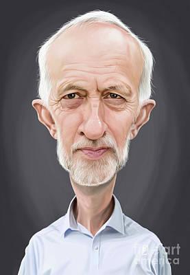 Digital Art - Celebrity Sunday - Jeremy Corbyn by Rob Snow