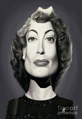 Digital Art - Celebrity Sunday - Joan Crawford by Rob Snow