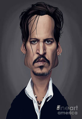 Digital Art - Celebrity Sunday - Johnny Depp by Rob Snow