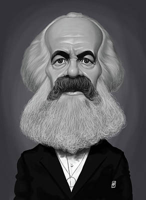 Digital Art - Celebrity Sunday - Karl Marx by Rob Snow