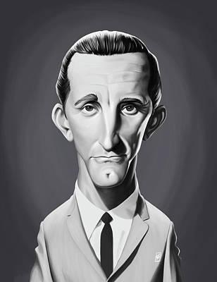 Digital Art - Celebrity Sunday - Kirk Douglas by Rob Snow