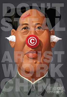 Digital Art - Celebrity Sunday - Mao Tse-took My Artwork by Rob Snow
