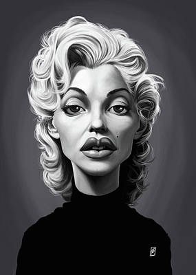 Digital Art - Celebrity Sunday - Marilyn Monroe by Rob Snow