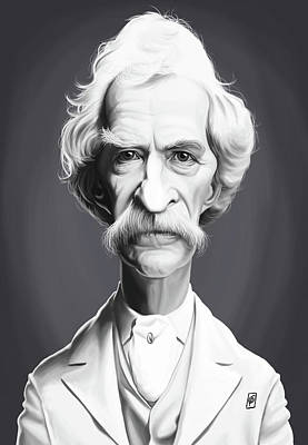 Digital Art - Celebrity Sunday - Mark Twain by Rob Snow
