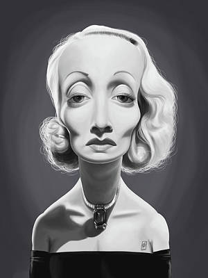 Digital Art - Celebrity Sunday - Marlene Dietrich by Rob Snow