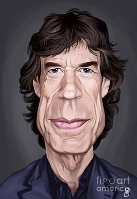 Digital Art - Celebrity Sunday - Mick Jagger by Rob Snow