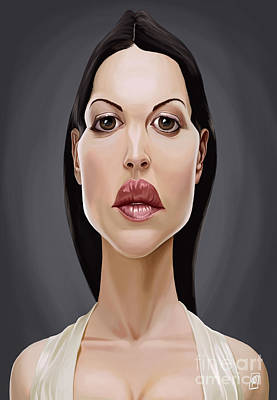 Italian Actress Digital Art - Celebrity Sunday - Monica Bellucci by Rob Snow