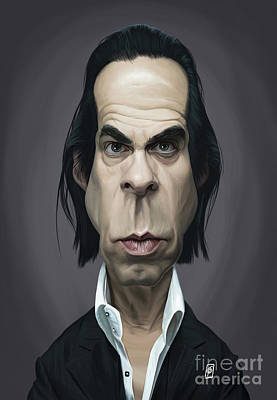 Digital Art - Celebrity Sunday - Nick Cave by Rob Snow