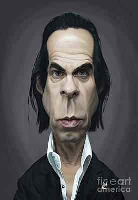 Digital Art - Celebrity Sunday - Nick Cave by Rob Snow