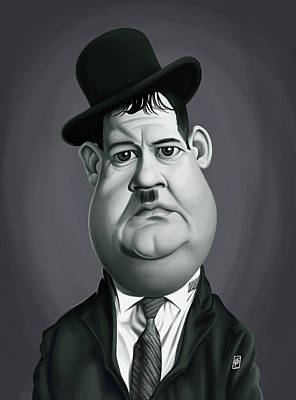 Digital Art - Celebrity Sunday - Oliver Hardy by Rob Snow