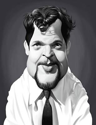 Digital Art - Celebrity Sunday - Orson Welles by Rob Snow
