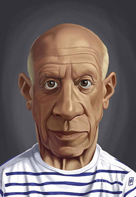 Digital Art - Celebrity Sunday - Pablo Picasso by Rob Snow