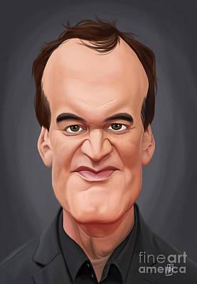Digital Art - Celebrity Sunday - Quentin Tarantino by Rob Snow